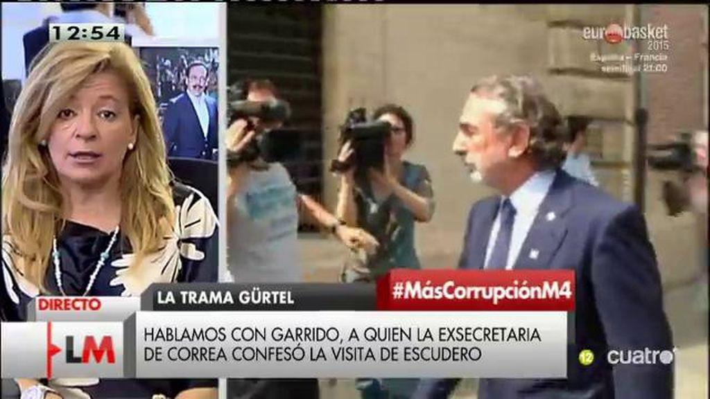 """Ana Garrido, sobre la exsecretaria de Correa: """"Me preocupa mucho su seguridad"""""""