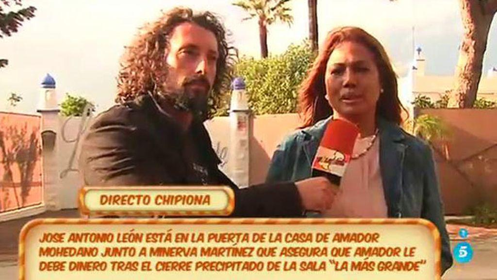 Minerva Martínez, dispuesta a acampar en casa de Amador para cobrar su deuda