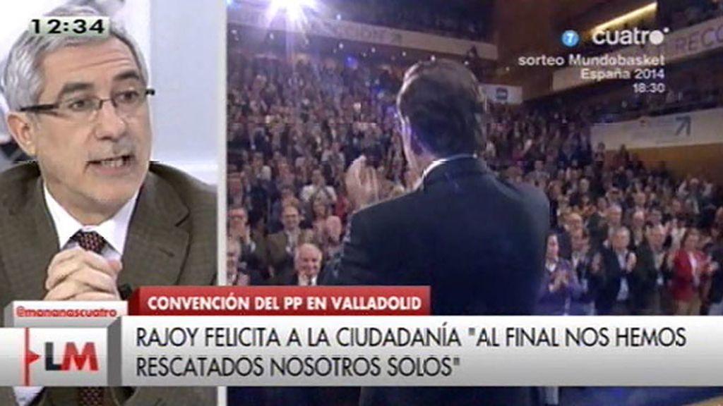 """Llamazares, sobre el discurso de Rajoy: """"Creo que es un rosario de mentiras"""""""