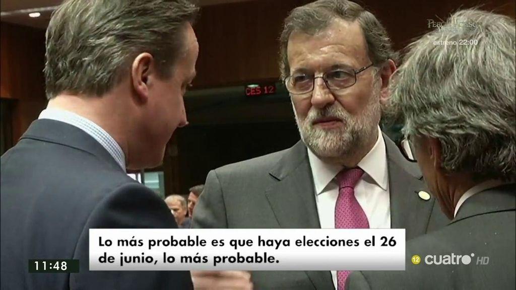 """Rajoy, a Cameron: """"Lo más probable es que haya elecciones el 26 de junio"""""""
