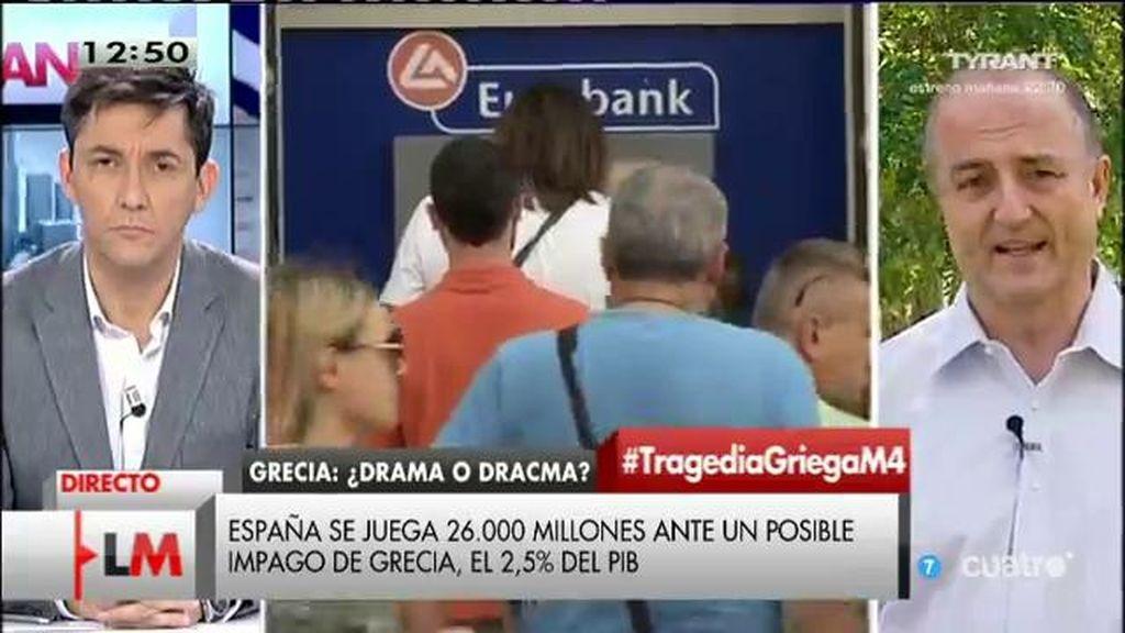 """Miguel Sebastián: """"La de la salida de Grecia del euro haría, por primera vez, el euro reversible como proyecto"""""""