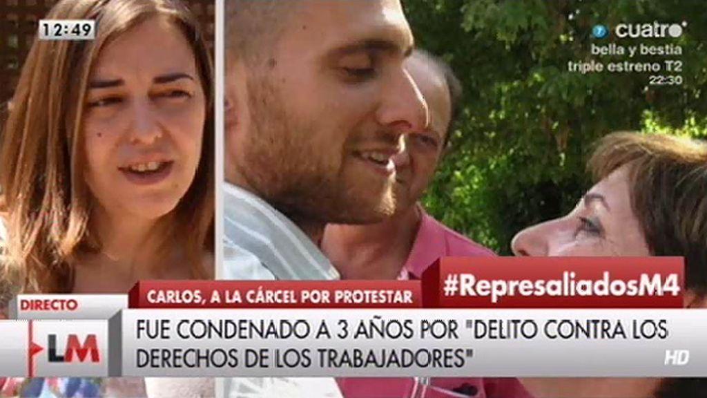 """Mª José, amiga de Carlos: """"Está intentado afrontar esta situación con el mejor talante"""""""