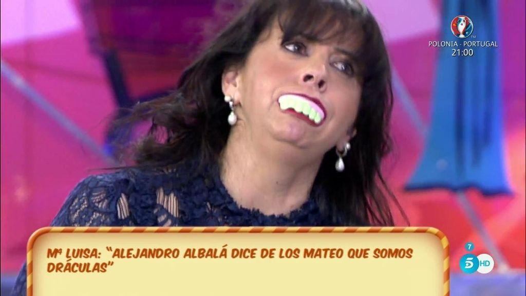Mª Luisa, la madre de Christopher Mateo, le enseña los colmillos a Alejandro Albalá