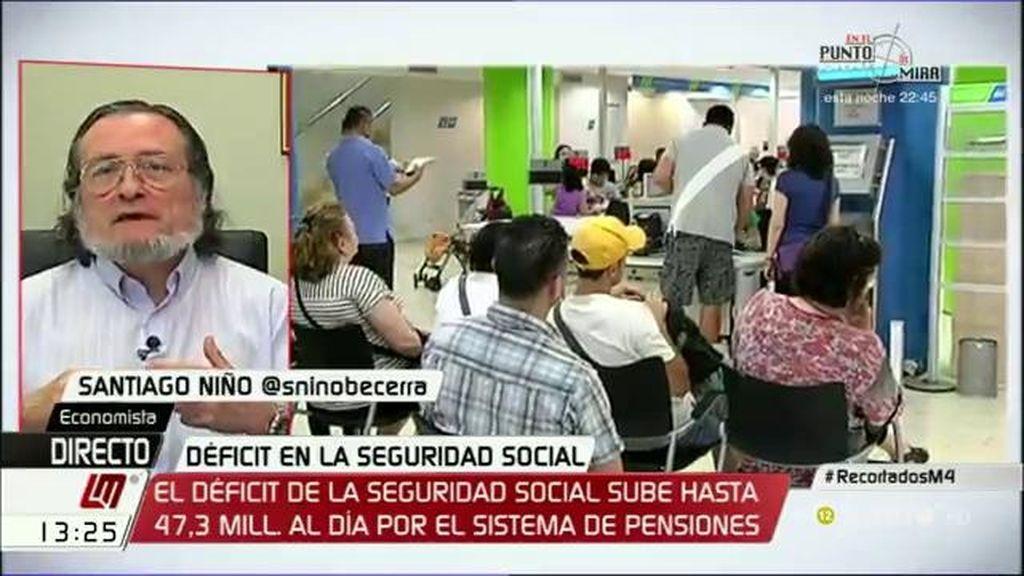 """Santiago Niño Becerra: """"El agujero de la Seguridad Social seguirá creciendo"""""""