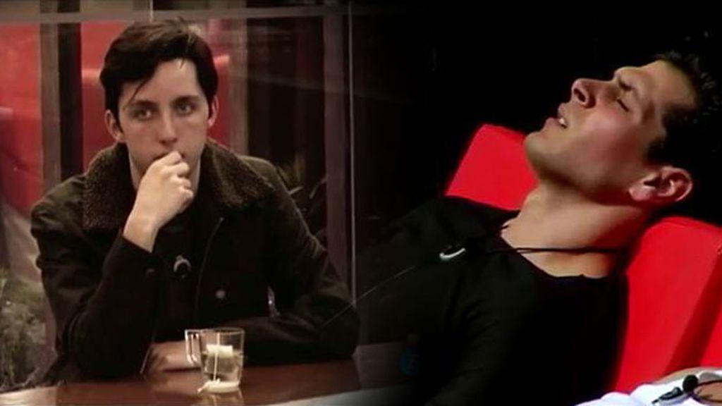 Alejandro, muy irascible con su nominación lo paga con su amigo Fran