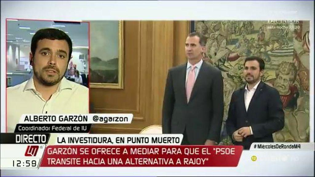 """Alberto Garzón: """"Vi al Rey como un ciudadano más, cansado de esta situación"""""""