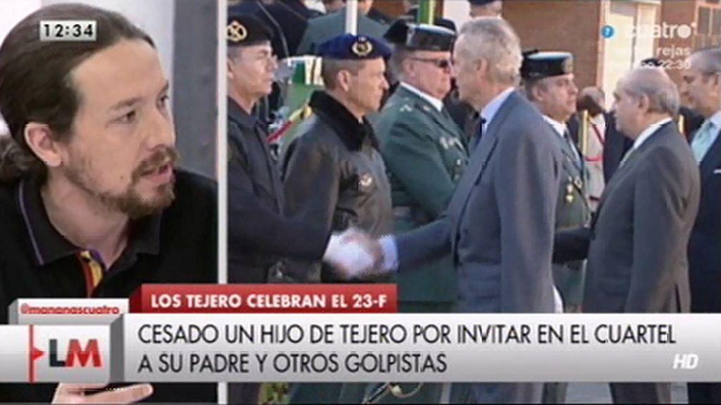 """Pablo Iglesias: """"Los principales humillados son los guardias civiles"""""""