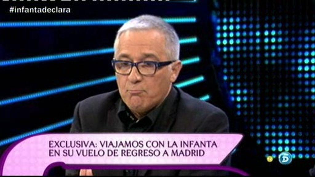 """Javier Sardá: """"Tanto amor desbordante y pasa todo el muerto a Urdangarín"""""""