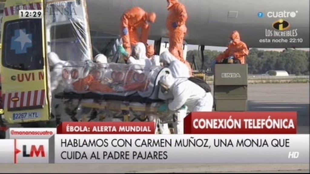 """Hermana Carmen Muñoz: """"El padre Pajares está mucho más animado"""""""