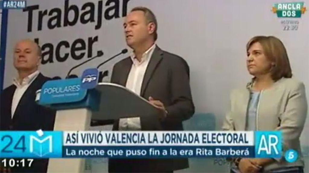 Alberto Fabra no podrá mantener la presidencia de la Generalitat