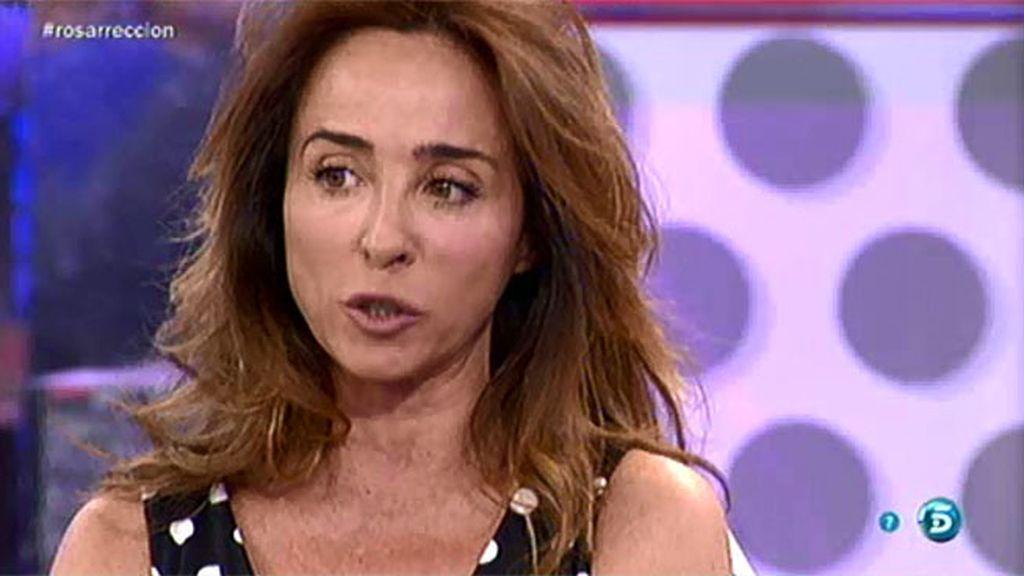 Rosa Benito, nerviosa porque se toque el tema de su hija Chayo en su reaparición