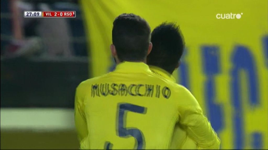 Gol de Uche (Villarreal 2-0 Real Sociedad)
