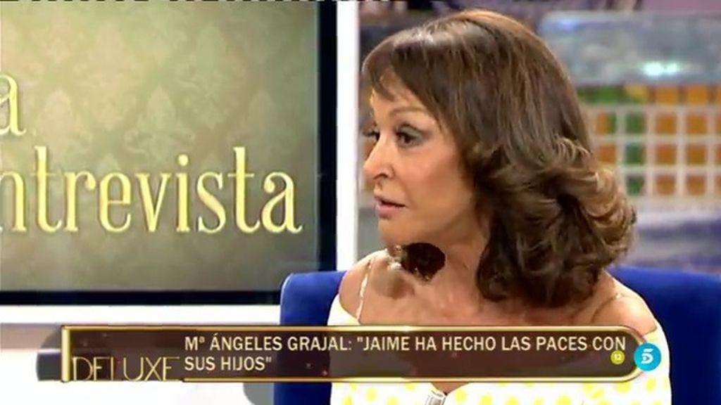 """Mª Ángeles Grajal: """"Jaime Ostos ha hecho las paces con sus hijos"""""""