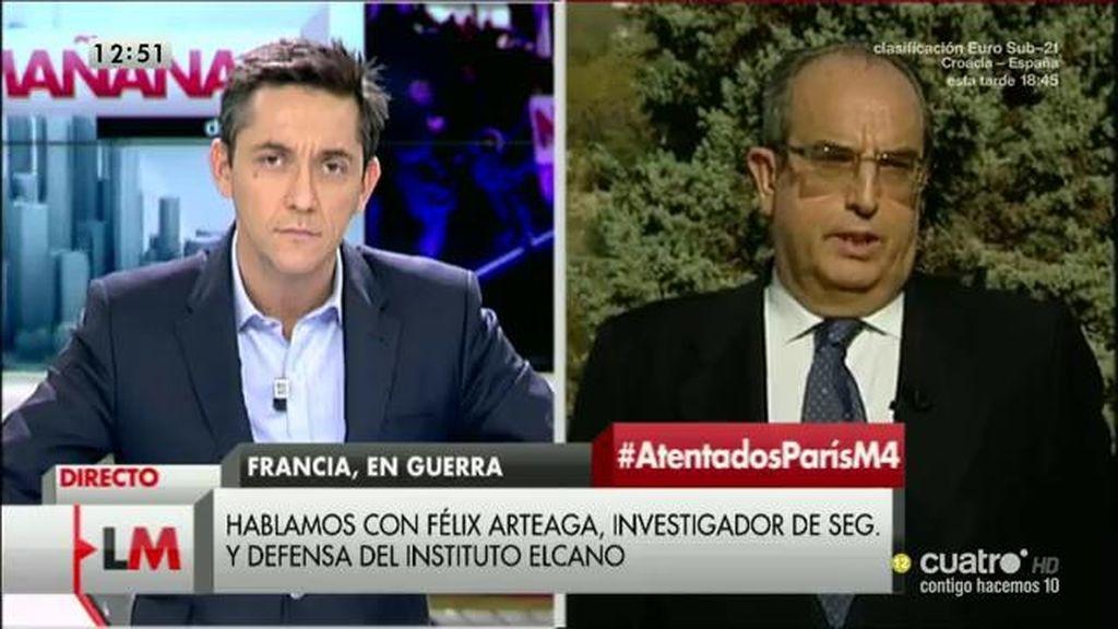 """Félix Arteaga: """"Tomar medidas de un día para otro esperando que eso solucione el problema no tiene mucha lógica"""""""
