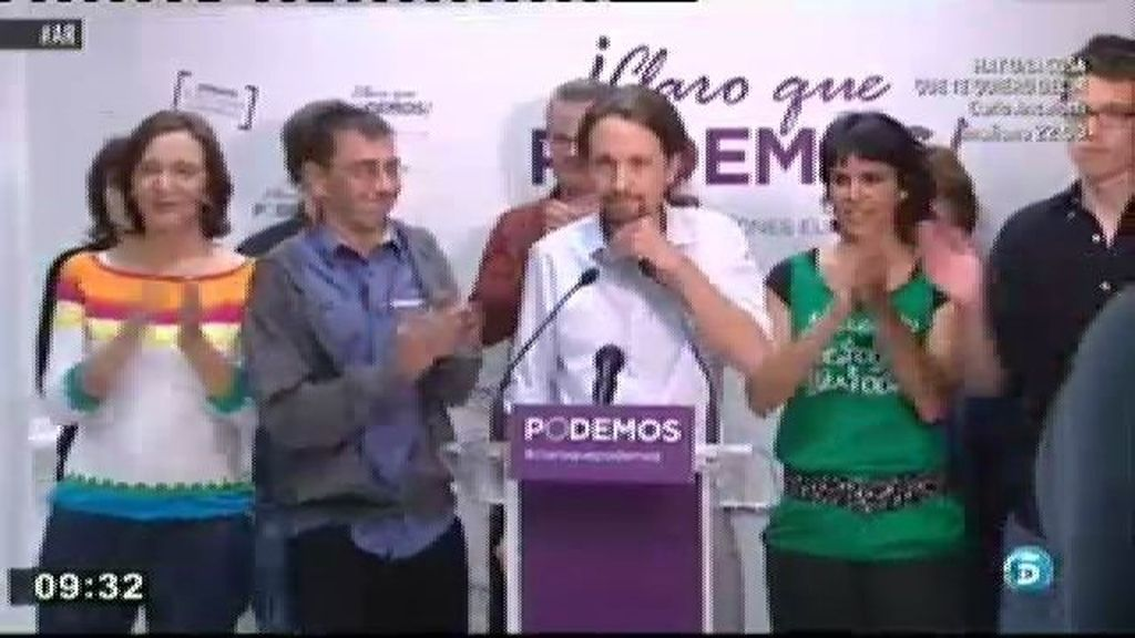 Los cinco de 'Podemos'