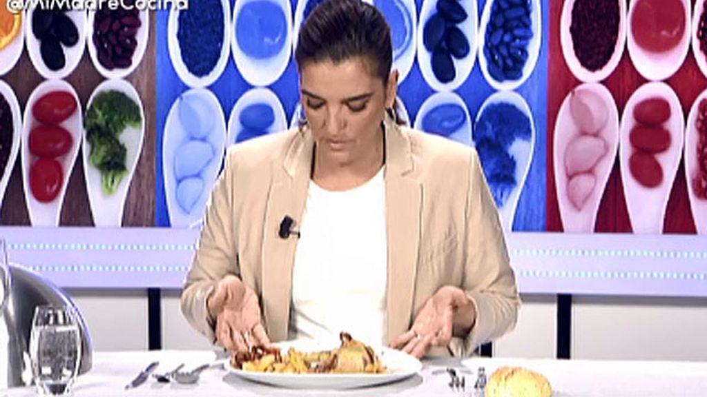 """María Jiménez Latorre, sobre el solomillo al hojaldre: """"Está totalmente crudo"""""""