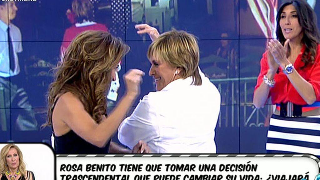 Patiño enseña a Chelo a bailar sevillanas