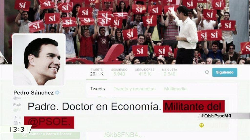 Pedro Sánchez cambia su perfil en Twitter