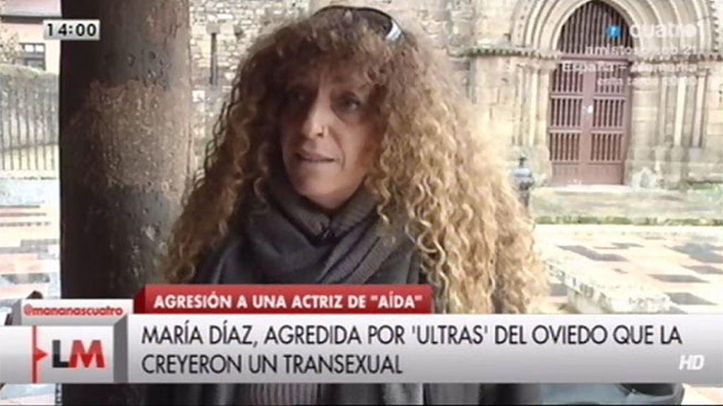 """María Díaz: """"No me partieron la cara, no me mandaron al hospital pero a otros sí"""""""