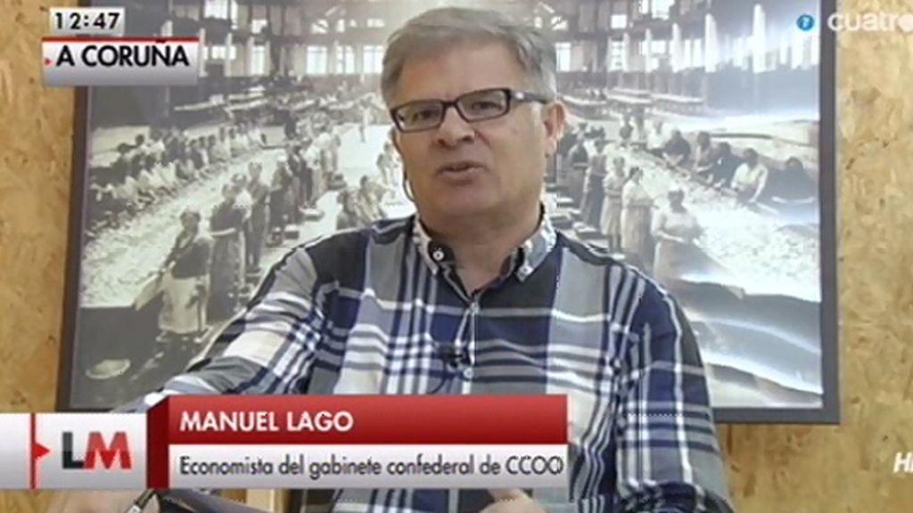 La entrevista a M. Lago, economista, online