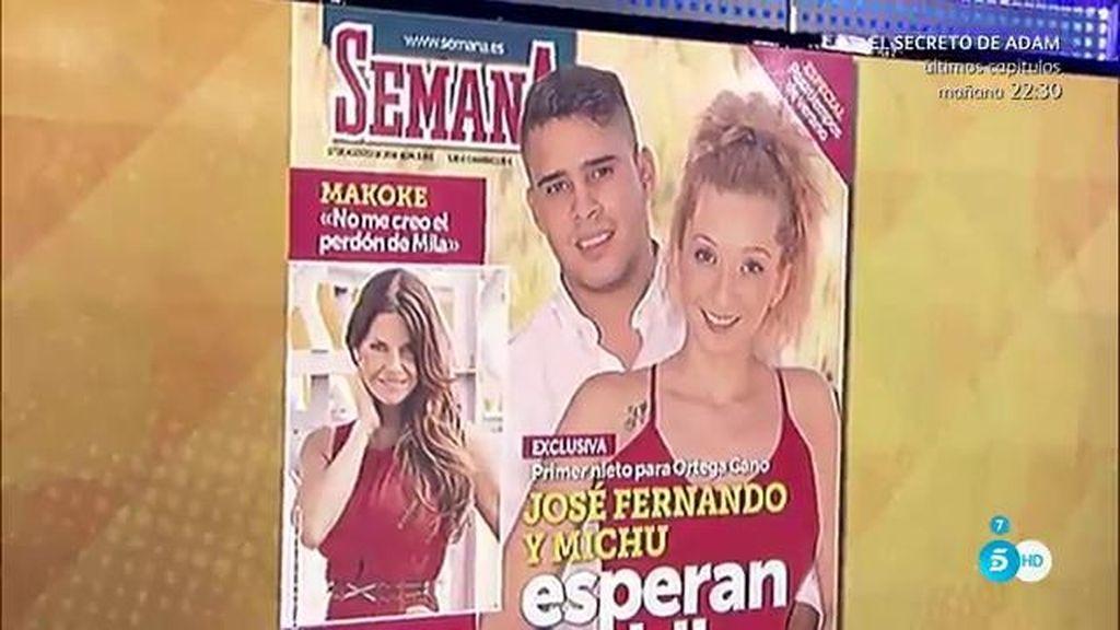 José Fernando y Michu anuncian en 'Semana' que esperan un hijo