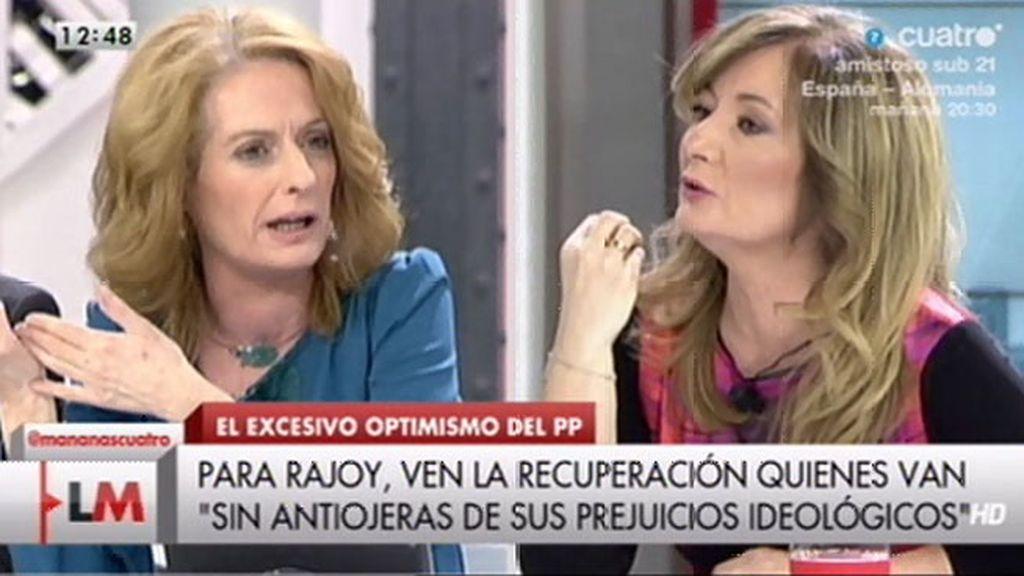 """Alicia Gutiérrez, a Mayte Alcaraz: """"¿Por qué no le dejamos el 'y tú más a ellos?"""""""