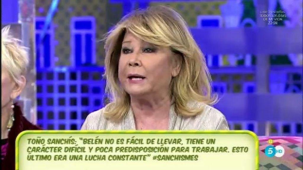 """Mila, de T. Sanchís: """"No perdonó que Belén no arremetiera contra Jorge y contra mí"""""""