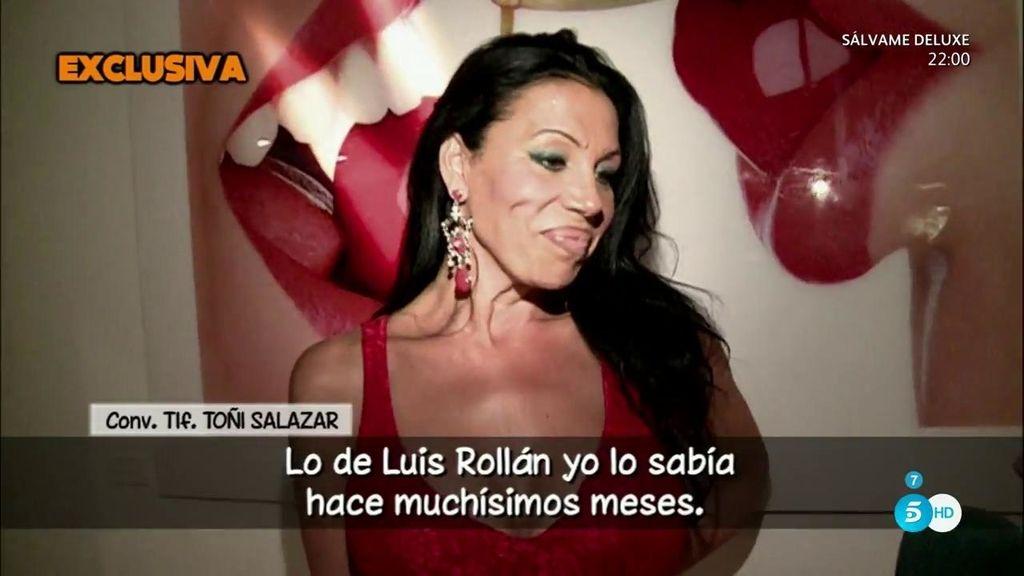 """Toñi Salazar: """"Lo de Luis Rollán yo lo sabía hace muchísimos meses, a mí me lo contó"""""""