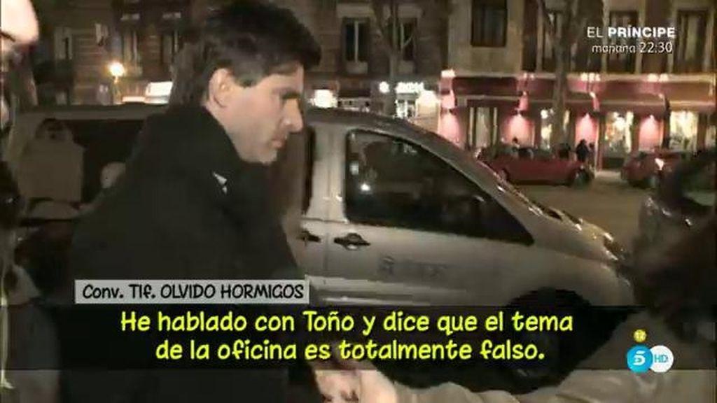 """Toño iba como """"asesor"""" en su nuevo proyecto laboral, según Olvido Hormigos"""