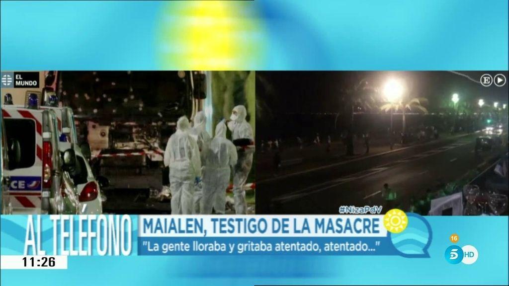 """Maialen, testigo de la masacre: """"Todavía veo las caras de la gente llorando y gritando"""""""