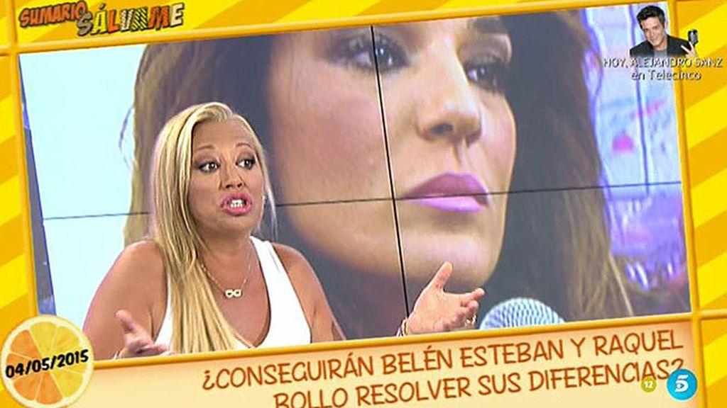 """Belén Esteban, a Raquel Bollo: """"Si crees que no soy tu amiga, tomaré distancia"""""""