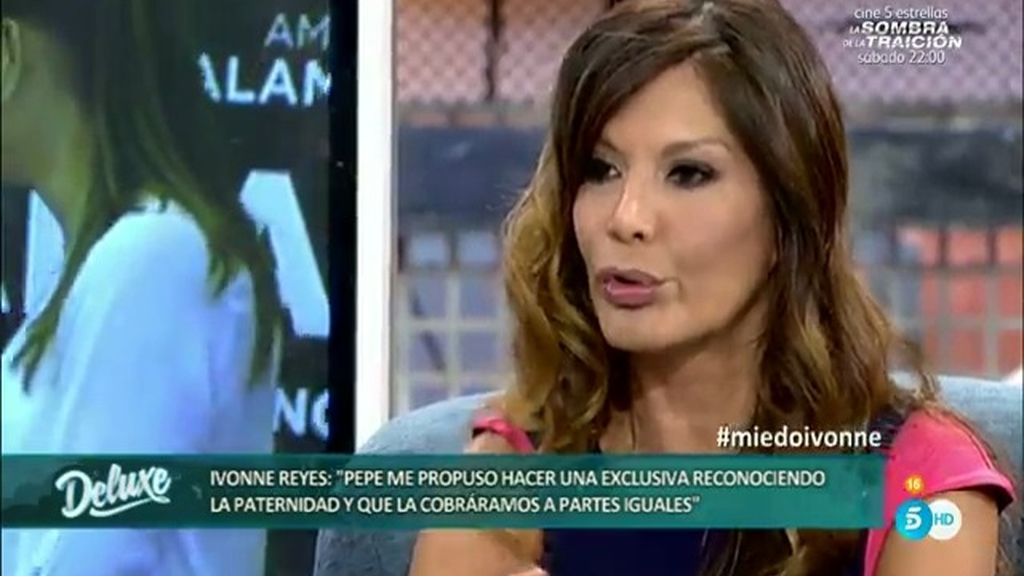 "Ivonne Reyes: ""Pepe Navarro me propuso un montaje junto a nuestro hijo"""