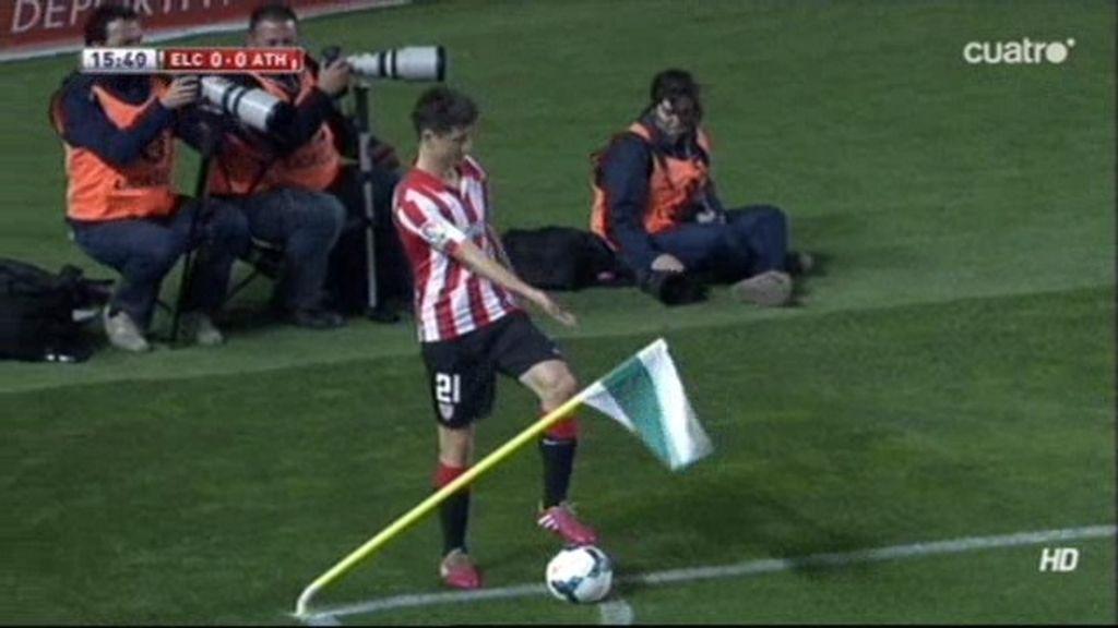 ¡El viento fue el jugador número 12 de Elche y Athletic en el Martínez Valero!