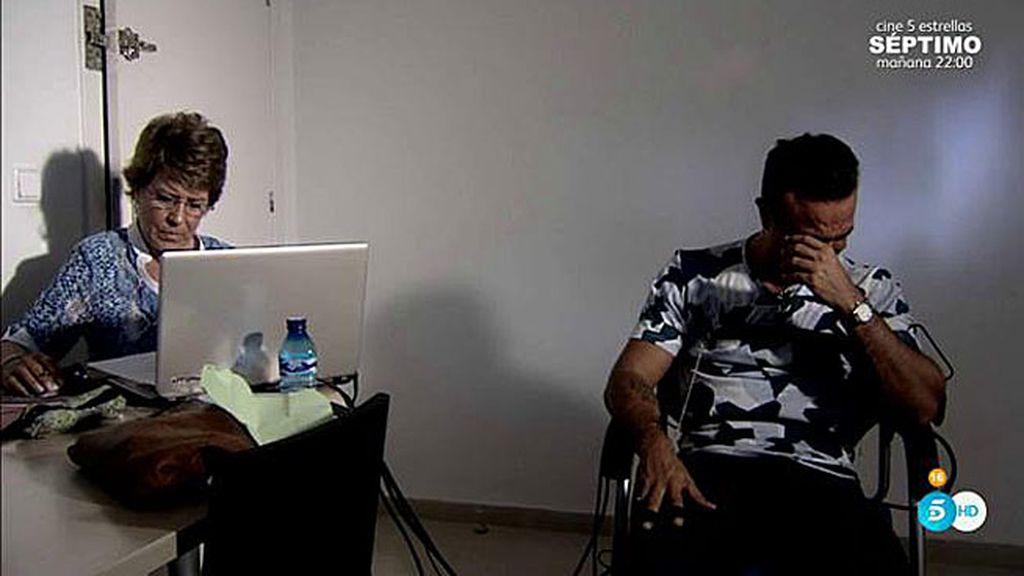 Luis Rollán se derrumba por completo con Conchita preparando su polígrafo