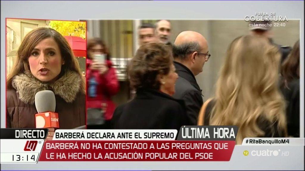 Así ha sido la declaración de Rita Barberá