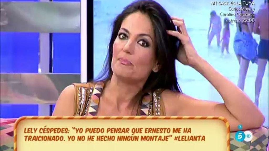 """Lely Céspedes: """"No puedo pensar que Ernesto me ha traicionado"""""""