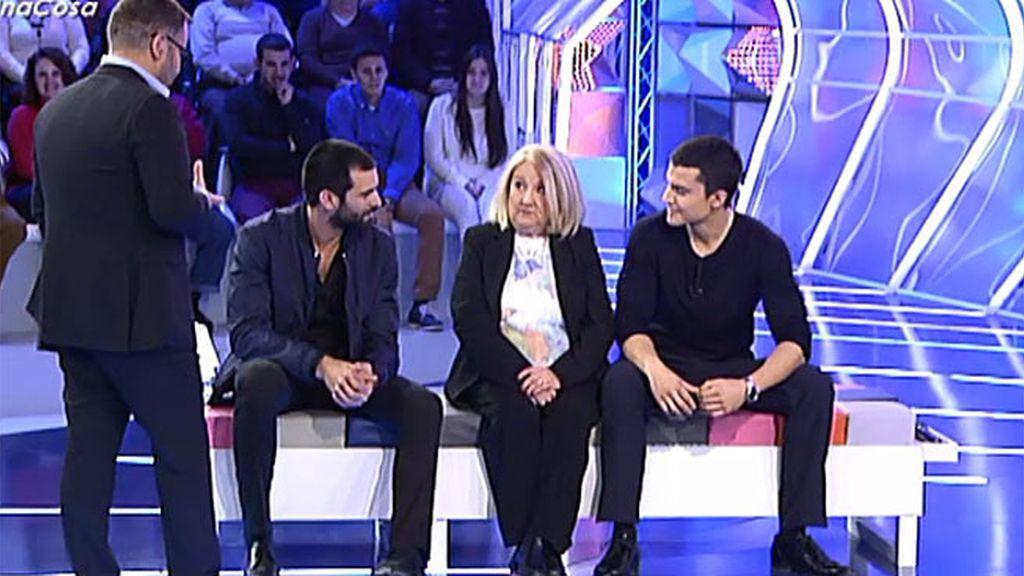 """Josefa, a Álex González y Rubén Cortada: """"Estáis buenísimos"""""""