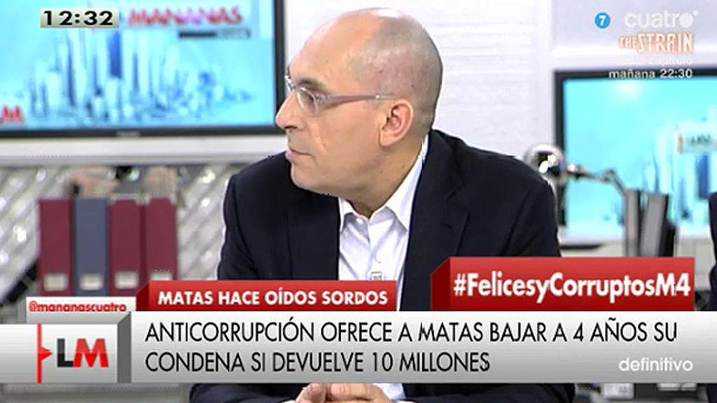 """E. Silva, de Bárcenas: """"Lo de la 'semana blanca' es inaceptable legalmente"""""""