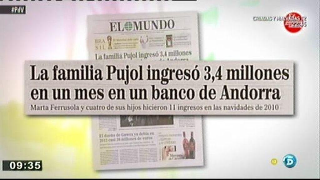 Hacienda ya habría recibido dos millones del dinero que los Pujol tenía en una cuenta fuera de España