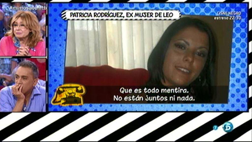 """Patricia Rodríguez, exmujer de Leo Cámara: """"Es Rosa la que ha inventado todo"""""""
