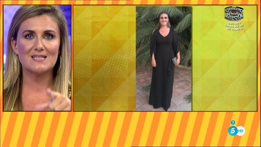 Carlota cuenta la enécdota del enlace de Rocío Carrasco y enseña el vestido que llevó