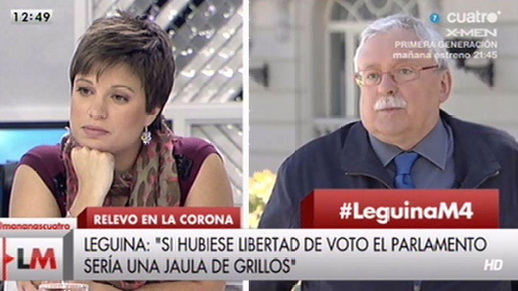 """Beatriz Talegón, a Joaquín Leguina: """"Como jovencita y como mujer me siento ofendida"""""""