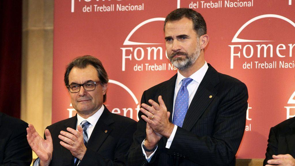 Artur Mas no recibe al Rey en los 'Premis Carles Ferrer Salat'