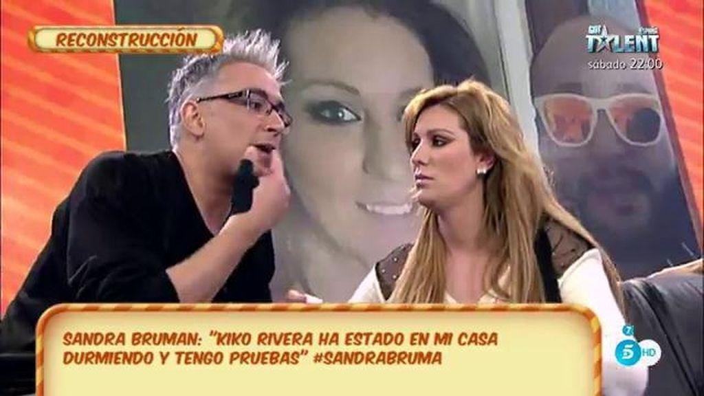 "Sandra Bruman, de Kiko Rivera: ""Tocó mis labios pero me alejé"""