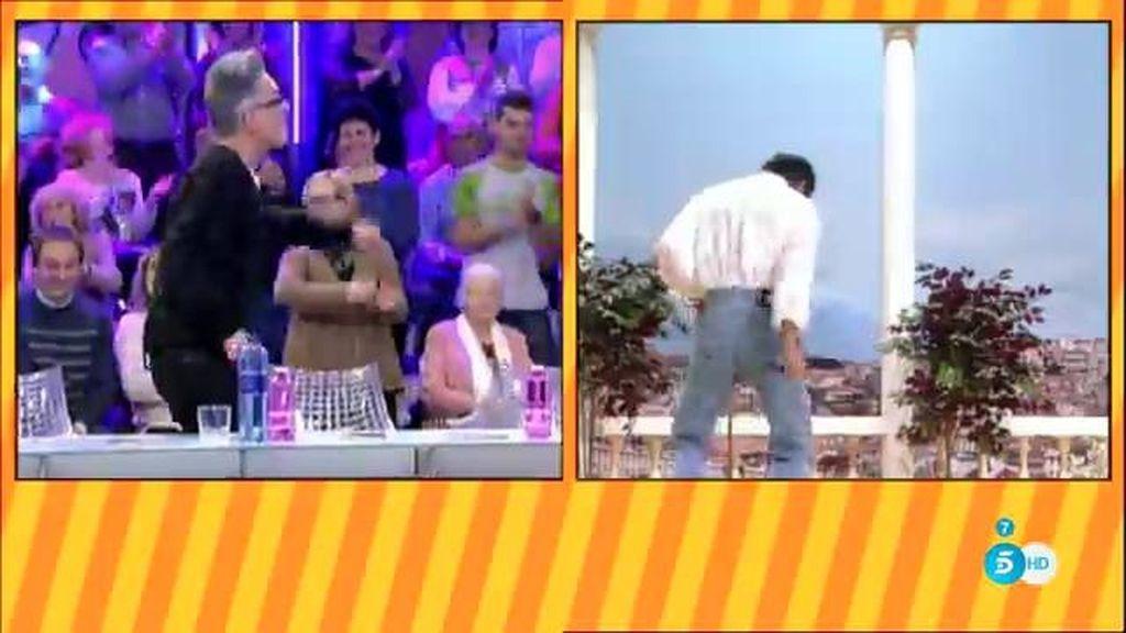 ¡Los colaboradores de 'Sálvame' bailan al ritmo de Agustín Pantoja!