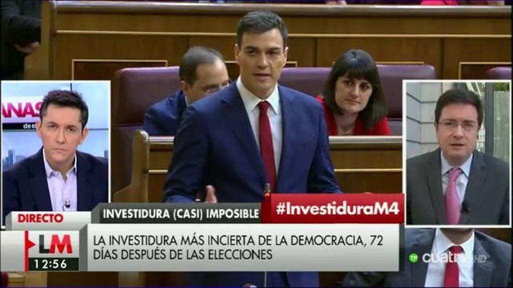 """Óscar López: """"Iglesias no ha venido tendiendo la mano, más bien ha tenido exabruptos impropios del parlamento"""""""