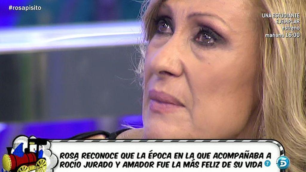 Rosa se emociona al recordar a Rocío Jurado