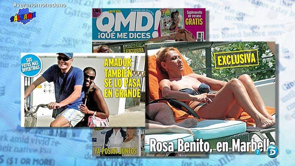 Así disfrutan Rosa Benito y Amador Mohedano de sus vacaciones por separado