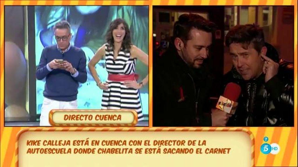 """Rafael Lozano, director de la autoescuela: """"Chabelita ha estudiado 'a tope"""""""