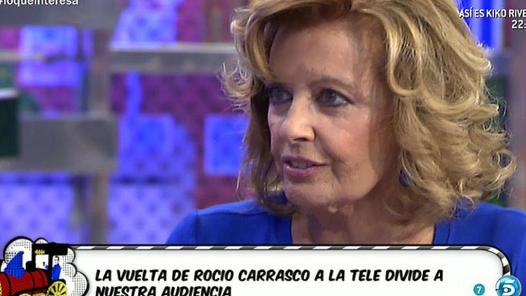 """Mª Teresa, sobre Rociíto: """"El que viene aquí, viene a ser juzgado por su trabajo"""""""